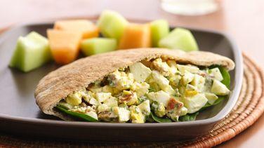 Pitas de Huevo con Tocino