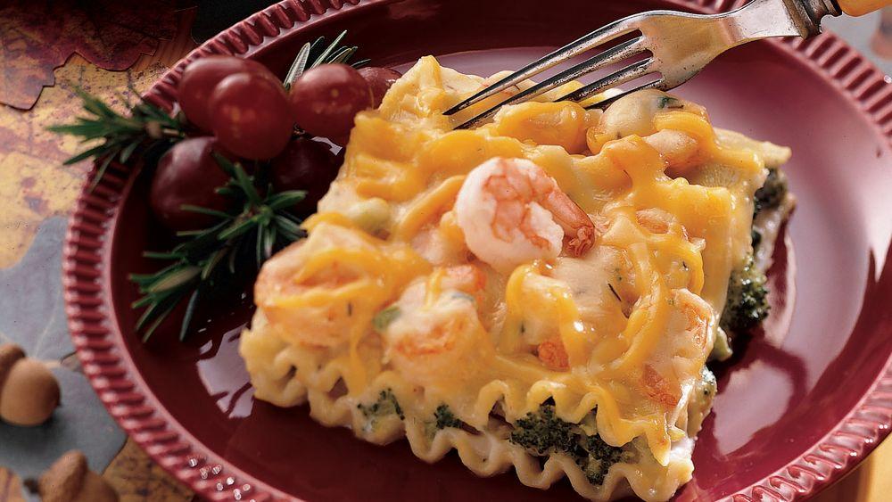 Broccoli-Shrimp Lasagna