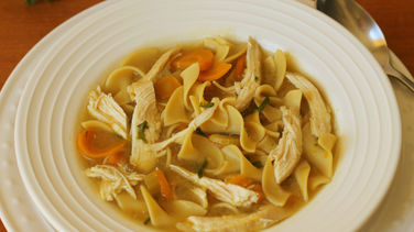 Chicken and Pasta Soup with Fall Vegetables