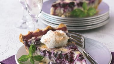 Blueberry Pudding Pie