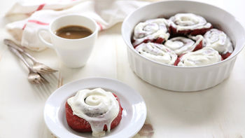 Red Velvet Cake Mix Cinnamon Rolls
