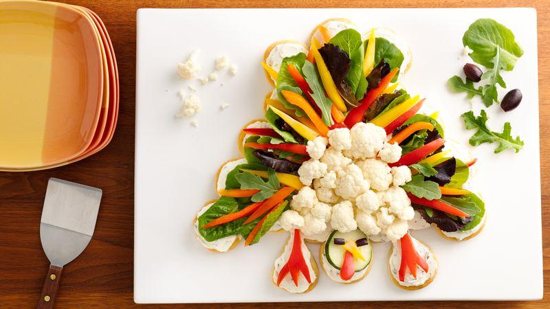 Crescent Turkey Shaped Veggie Platter