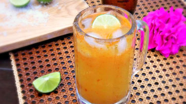 Mango and Chamoy Micheladas