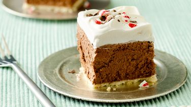 Peppermint-French Silk Pie Squares