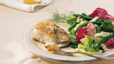 Bass with Parmesan