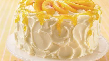 Peaches and Cream Layer Cake