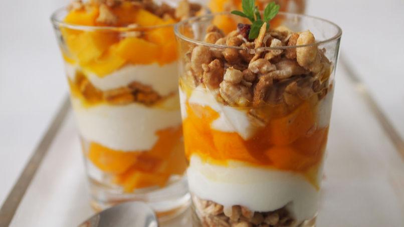 Mango and Passion Fruit Parfait