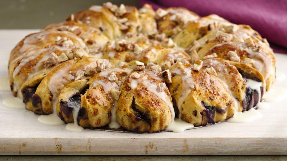 Blueberry Cinnamon Roll Coffee Cake
