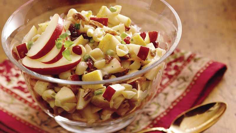 Winter Fruit Pasta Salad