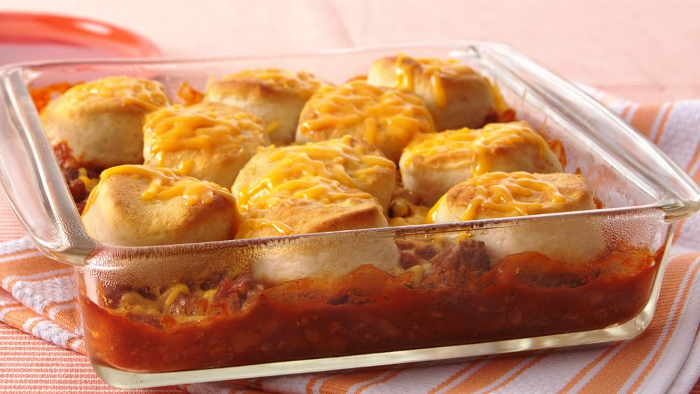 Beef and Beans with Cheesy Biscuits