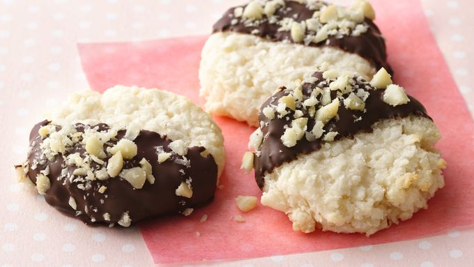 Black-and-White Coconut Macaroons