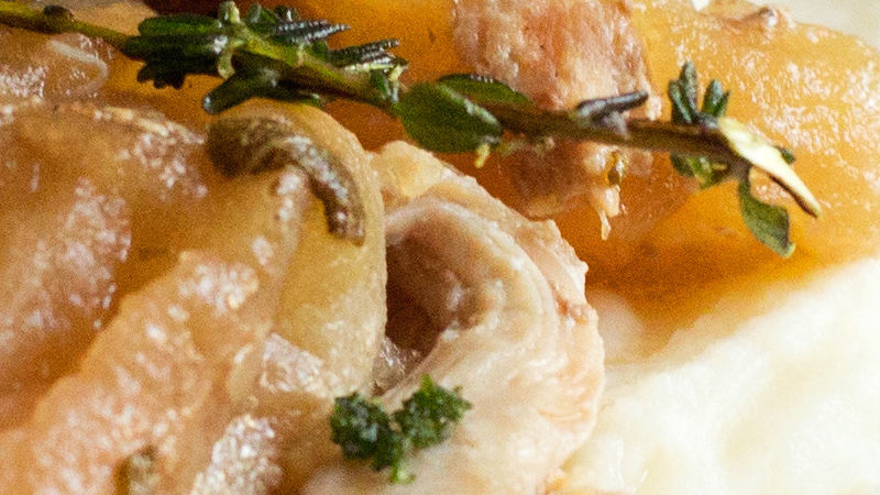 Slow-Cooker Chicken with Apples and Crème Fraîche