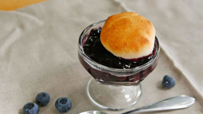 Blueberry Cobbler on the Grill