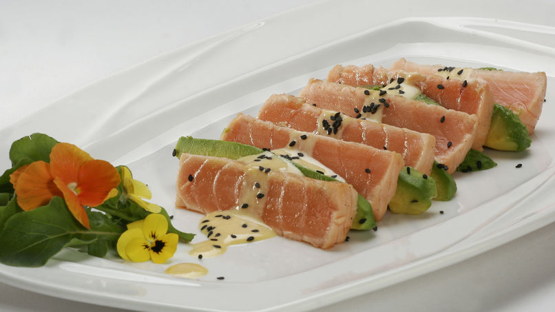 Salmon Ceviche with Avocado and Leche de Tigre