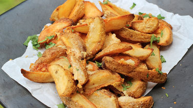 French Fries with Parmesan Cheese and Garlic