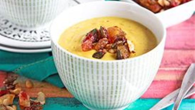 Slow-Cooker Indian Curried Cauliflower Soup