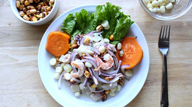 Peruvian Ceviche Mixto with Sweet Potato