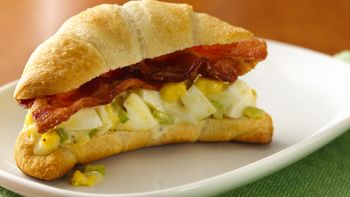 Bacon and Egg Crescent Sandwiches