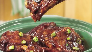 Slow-Cooker Saucy Barbecued Ribs