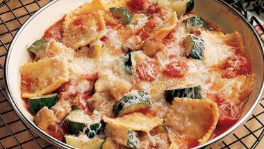 Ravioli and Eggplant Stew