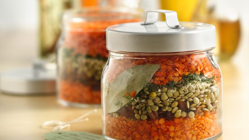 Layered Lentil Soup in a Jar