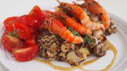 Quinoa, Shrimp and Mushroom Casserole