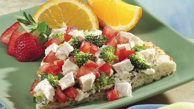 No-Bake Salad Pizza