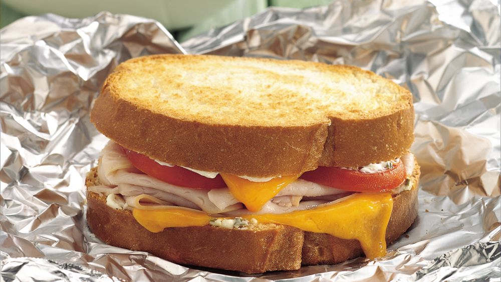 Turkey and Cheese Packet Sandwiches