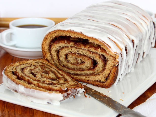 bakes everything you love about a cinnamon roll into a loaf of bread ...