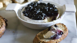 Brie Carmenere and Cranberry Sauce