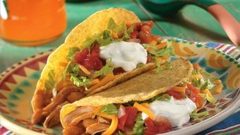 Slow-Cooker Chicken and Bean Tacos