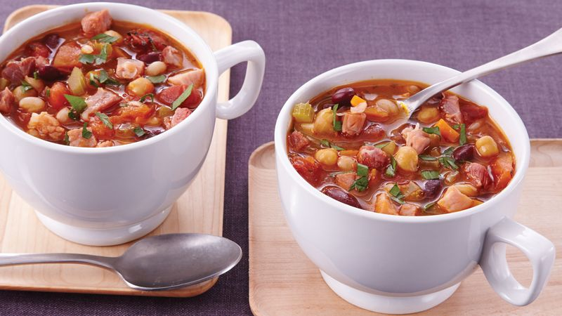 Slow-Cooker Heavenly Ham and Bean Soup