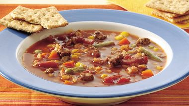 Vegetable-Beef-Barley Soup