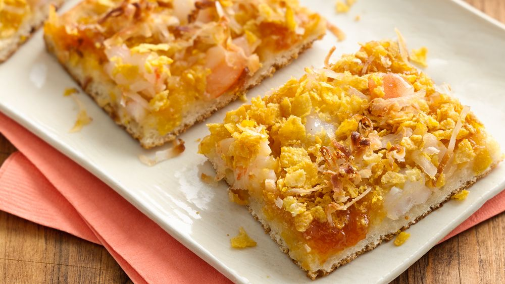 Coconut Shrimp Appetizer Squares