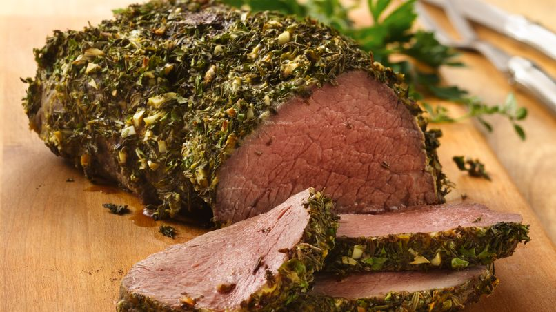 Elegant Beef Tenderloin with Herb-Dijon Crust