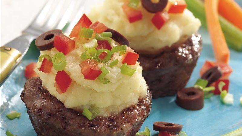 Greek-Style Shepherd's Meat and Potato Cups