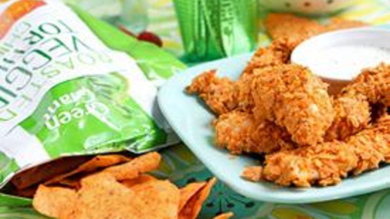 Veggie-Cheddar Chip Chicken Tenders