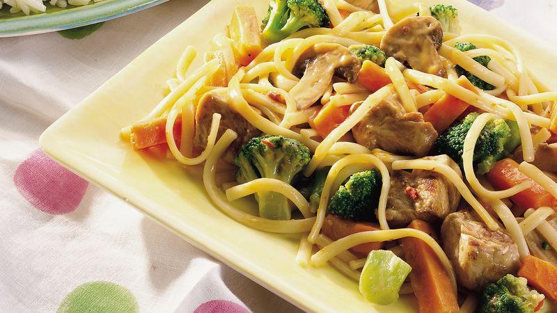 Spicy Thai Pork Lo Mein