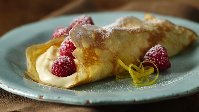 Fresh Lemon Cream Crepes