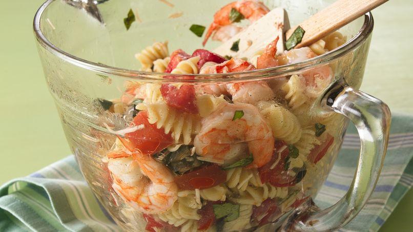 Pasta a la Italiana con Camarones