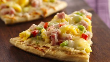 Ham and Swiss Pizza