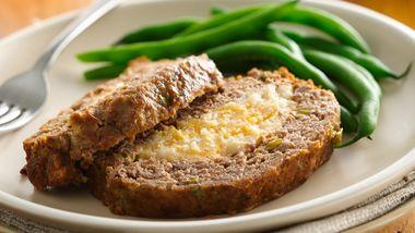 Mashed Potato Stuffed Meatloaf