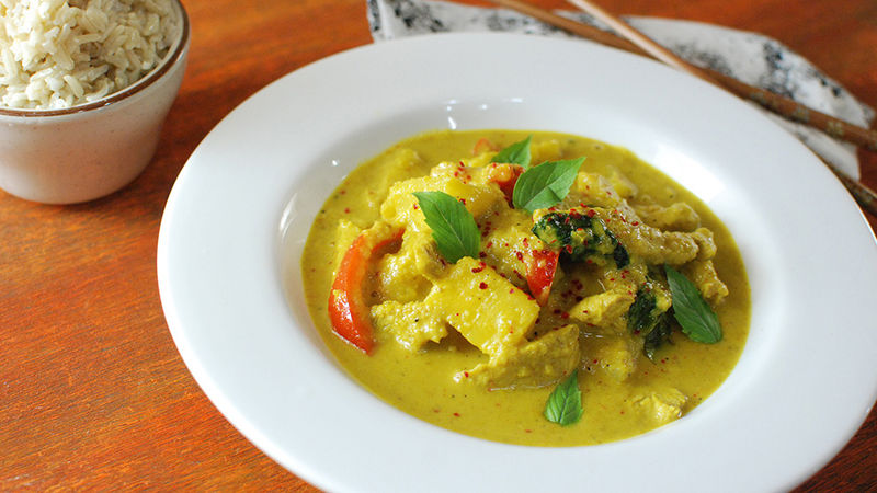 Spicy Pineapple Chicken Curry