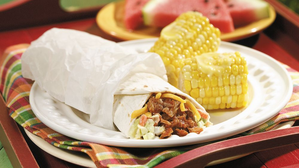 Barbecue Chicken Wraps
