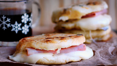 Ham and Cheese Stuffed Arepas