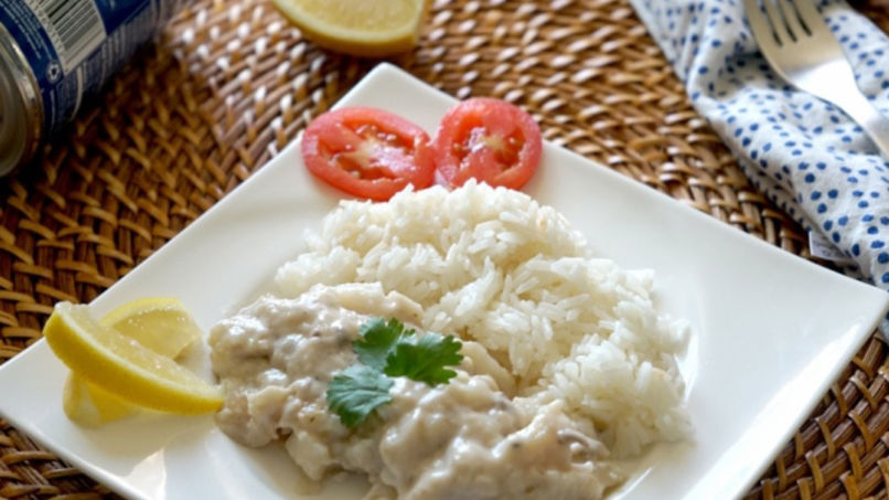 Fish Fillets in Cream of Mushroom