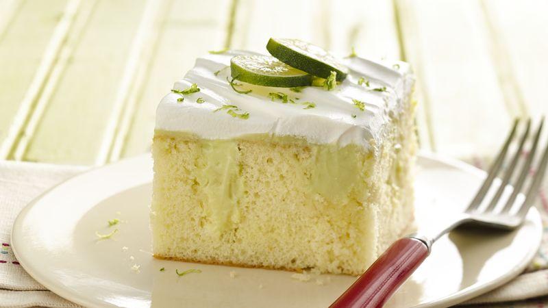 Skinny Key Lime Poke Cake
