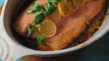 Baked Trout with Lemon, Cilantro and Cumin