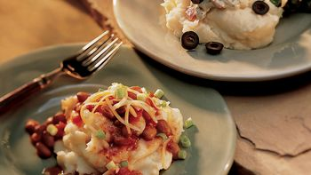 Mashed Potatoes with Mexican Chili-Cheese Topper