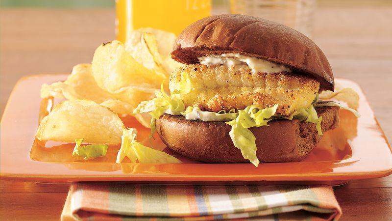 Lemon-Pepper Fish Fillet Sandwiches